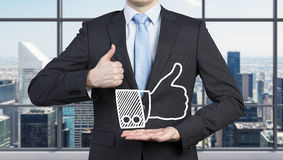 Man showing like Royalty Free Stock Images