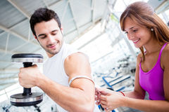 Man showing off his muscles Royalty Free Stock Image