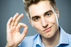 Man showing OK sign Royalty Free Stock Photos