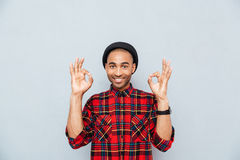 Man showing ok sign Stock Photography