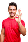 Man showing Ok sign Stock Photos