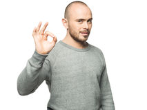 Man showing ok sign Royalty Free Stock Image