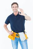 Man showing OK sign Stock Image