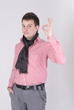 A man showing OK sign Stock Photo