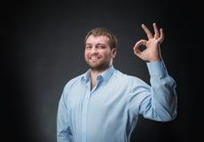 Man showing ok-sign Stock Image