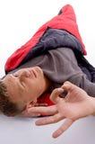 Man showing okay hand gesture Royalty Free Stock Image