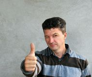 Man showing okey sign Stock Photo