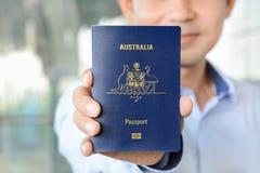A man showing passport Royalty Free Stock Photos