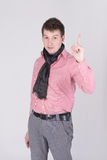 A man showing sign idea Stock Photography