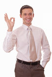 Man showing sign OK Royalty Free Stock Images