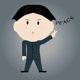 Man showing a sign of peace. Vector illustration. EPS10 Royalty Free Stock Photos