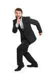 Man showing silent sign Stock Photography