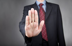 Man showing stop gesture Stock Image