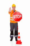 Man Showing Stop Sign Royalty Free Stock Photo