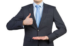 man showing thumb up Στοκ Φωτογραφίες