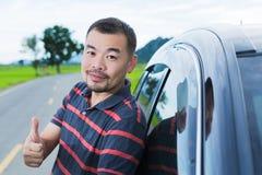 A man showing thumb up Stock Photos