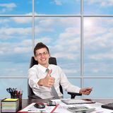 Man showing thumb up s Royalty Free Stock Photo