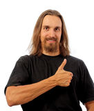 Man showing thumb up sign Royalty Free Stock Images