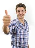 Man showing thumb up sign Stock Photos