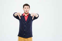 Man showing thumbs down stock photography