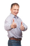Man showing thumbs up Stock Photos