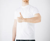 Man showing thumbs up Stock Photography