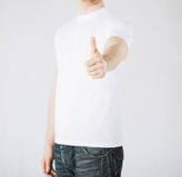 Man showing thumbs up Stock Image