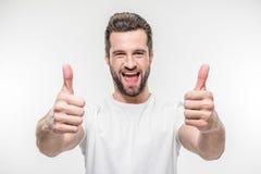 man showing thumbs up Στοκ Φωτογραφία