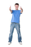 Man showing thumbs up with both hands Royalty Free Stock Photos