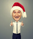 Man showing thumbs up Stock Images