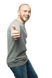 Man showing thumbs up Royalty Free Stock Images