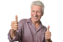 man showing thumbs up Royalty Free Stock Photo