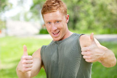 Man showing thumbs-up sign Royalty Free Stock Photos
