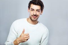 man showing thumbs up young Στοκ φωτογραφίες με δικαίωμα ελεύθερης χρήσης