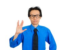 Man showing vulcan sign Royalty Free Stock Photo