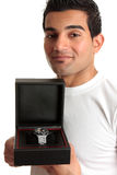 Man showing a wristwatch Stock Photos