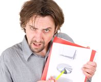 Man shows a diagram Royalty Free Stock Images