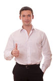 Man shows sign OK Royalty Free Stock Image