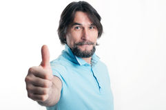 Man shows a sign of okay Royalty Free Stock Image