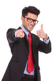 Man Shows That You Are Ok Stock Images