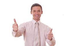 Man shows thumbs up Royalty Free Stock Images