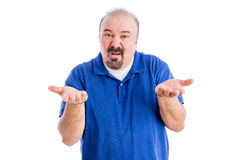 Man Shrugging His Shoulders And Gesticulating Stock Images