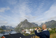 Man shutting in Norway Stock Images