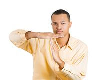 Man shwing time out gesture Stock Photos