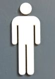Man sign. Close up of the men's sign on a rest room royalty free stock photos
