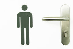 Man sign. On the door of a toilet Royalty Free Stock Image