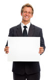 Man with sign Royalty Free Stock Photo