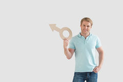 Man with sign Royalty Free Stock Image