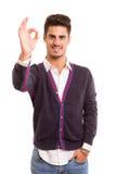 Man signaling ok Royalty Free Stock Images