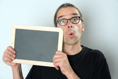 Man with  signboard Royalty Free Stock Photos